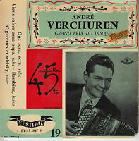 45TRS VINYL 7''/ RARE FRENCH EP ANDRE VERCHUREN / ACCORDEON / BAMBINO + 3