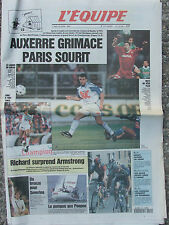 L'Equipe du 22/4/1996 - Auxerre - Richard - Severino - Poupon - Mendy
