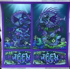 David Welker Ween Aragon Ballroom Fish Set 2 Nights Limited Edition Prints
