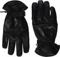 Neu Schwarz Kurze Leder Knöchelschutz Motorrad Handschuhe