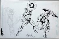 Captain America action Sketches by STEVEN BUTLER