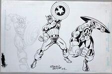 Captain America action Sketches by STEVEN BUTLER Comic Art
