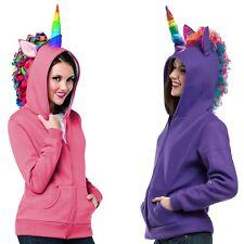 Unicorn Costume Hoodie Adult Womens & Teen Girls Halloween Fancy Dress
