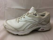 6f988dfc6a6 Reebok Womens 7.5 Medium Leather Walking Sneakers Shoes White Pink Gray  Trainers
