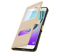 Etui Housse Pochette Double Fenetre Flip Samsung Galaxy S 7 ( G 930 F ) Or