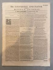 1732 Newspaper - The Universal Spectator and Weekly Journal