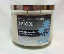 "Bath & Body Works Aromatherapy ""Black Chamomile"" 3 Wick Scented Candle 14.5oz"