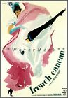 French Cancan 1955 Film Vintage Poster Print Retro Style Art Moulin Rouge Dance