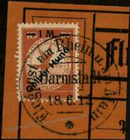 Germany 1912 Empire Mi IV Semi-Official Airmail Used Gelber Hund 89763