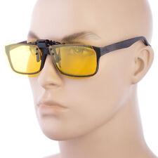 Polarized Lens Glare Block Clip On Flip Up Sunglasses For Glasses Night Driving