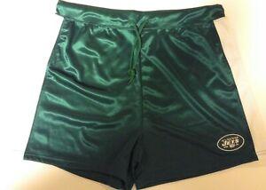 Boys Kids Youth Team Apparel New York NY Jets NFL Logo Green Football Shorts