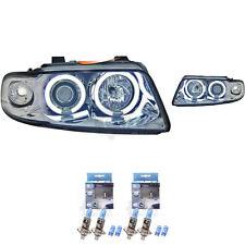 Set Scheinwerfer für Audi A4 B5 Typ 8D Bj. 94-99 klarglas/chrom CCFL Angel Eyes
