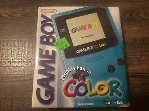 Nintendo Game Boy Color teal BOX ONLY