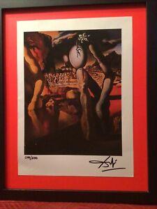 Salvador Dali Original Hand Signed Lithograph 1974 -  with COA, New Frame