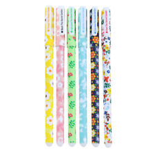 6 pcs/set Colored Gel Pen Office School Stationery supplies, Small Floral D6X7