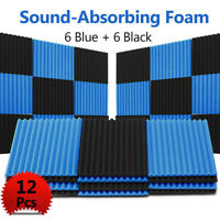 """12x Soundproofing Acoustic Wedge Studio Foam Wall Panels for Room 12*12*1"""" Eco"""