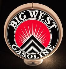 """BIG WEST Gas Globe, Special Reproduction, 13.5"""", Includes Plastic Body"""
