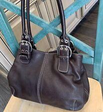Beautiful TIGNANELLO Large Brown Leather Shoulder Handbag
