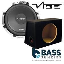 "VIBE SLICK S12 12"" 1200 WATTS Car Subwoofer & MDF Sub Bass Box Enclosure Pack"
