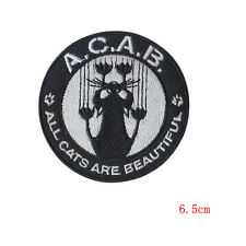 All Cats Are Beautiful Funny Humor Cat Lovers Cartoon Iron Sew on Patch Badge UK