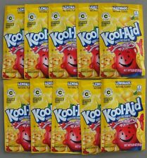 10 packets of KOOL-AID drink mix: LEMONADE flavor, TEN packs, UNSWEETENED, cool