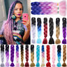 5 Pcs Jumbo Braiding Hair Extensions Twist Dreadlock Box Braids Pure Color FO3