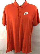 Men's Nike Sportswear Polo Shirt 909752-891 Orange/White Size L $45.00 Nwt