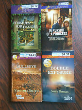 Lot of 4 Love Inspired books Suspense and romance