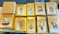 Hallmark Keepsake Christmas Ornament Gold Box Collector Club 10 pieces LOT #27