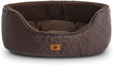 Windracing Luxury Dog Bed for Small Medium Dog Washable Removable Covers Oval Fo