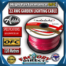 100m Garden Light 22awg Gauge 100% Pure OFC Garden Lighting Cable Wire Lead Roll