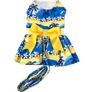 Doggie Design Catching Waves Dog Dress with Matching Leash  XS-S-M-L