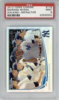 2013 Topps Chrome Mariano Rivera Refractor #118 PSA 9 *Pop 9* HOF Yankees