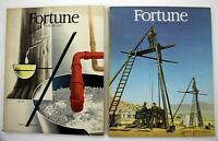 Vintage Lot of 2 Fortune Magazines 1946-1947 Great Ads and Cover Art
