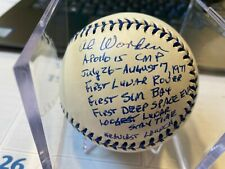 Al Worden autographed signed Al baseball Nasa astronaut Apollo 15 Stat Ball