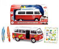 Volkswagen Surfer Camper Van Dickie Toys 1:14 Scale With Custom Stickers Age 3+