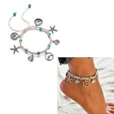 Women's Alloy Starfish Shell Pendant Anklets Vintage Handmade Anklet Bracelet