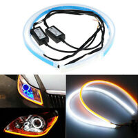60cm LED Headlight Slim Strip Light Daytime Running Sequential Flow Signal 12V