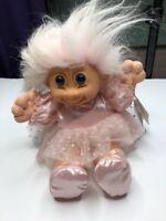 "Russ Troll Kidz Vintage Doll Ballerina Pink Hair Tutu Slippers Twinkles 15"" NWT"