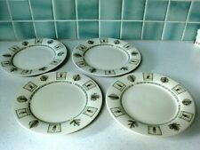 "4 Dinner Plates 11""  Portfolio By Pfaltzgraff Naturewood Herb Themed"
