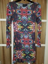 MinkPink open back floral bodycon dress women's size XS