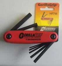 Bondhus GorillaGrip 12587 Hex Key Set in Fold-up Snap Holder 2 to 8mm