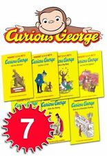 Curious George The Monkey Collection Margret Rey 7 Book Set Gift Pack Series New