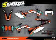 KTM graphics EXC decals kit 125 250 300 450 530 2012  2013 Enduro '12 '13 SCRUB