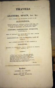 [BARNARD (Sophia)]. ÉDITION ORIGINALE ANGLAISE DE SES VOYAGES EN ALGÉRIE. 1820.