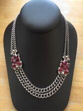 Stephen Webster Sterling Silver 925 Rhodolite Garnet Double Chain Necklace BNew