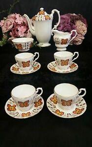 Royal standard fine bone china coffee service pot, cup , milk jug sugar bowl