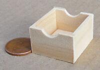 1:12 Scale Medium Wood Tray - Box - Crate Dolls House Miniature Accessory SAM