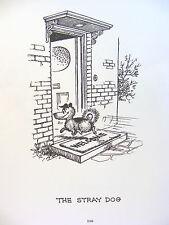 "Thelwell Vintage Art Cartoon Print  Dog Care '64 Open Ed. 8 x 5 7/8"" Reseller"