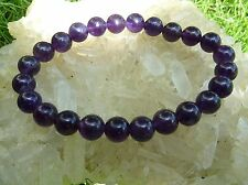 Bracelet AMETHYSTE  qualitée extra d'uruguay ! perles 8 mmLlithotérapie Reiki